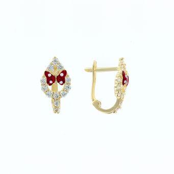 Ohrhänger mit Zirkonia und Emaille