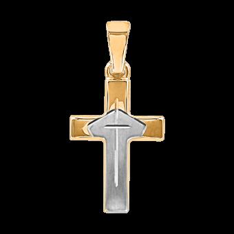 Kreuz aus Gelbgold